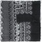Oscar de la Renta lace bands print scarf - women - Modal/Cashmere - One Size