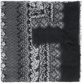 Oscar de la Renta lace bands print scarf