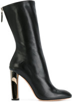 Alexander McQueen sculpted heel fitted boots - women - Lamb Skin/Leather - 36