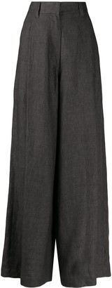 Brunello Cucinelli High-Waisted Palazzo Trousers