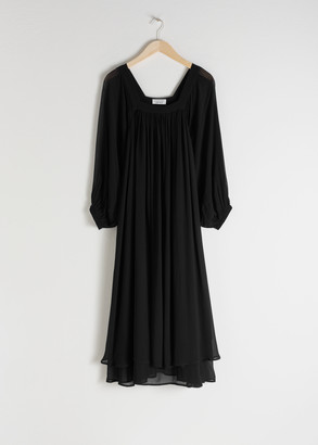 And other stories Square Neck Maxi Dress