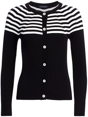 Piazza Sempione Striped Knit Cardigan