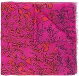 Oscar de la Renta leafy vines print scarf