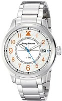Tommy Bahama Men's 10022437 Island Scout Analog Display Japanese Quartz Silver Watch