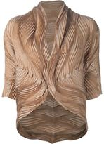 Issey Miyake wave pleated jacket - women - Silk/Polyester/Polyurethane - 2