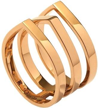 Repossi 18kt rose gold Antifer three row ring
