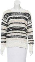 Veronica Beard Crocheted Striped Sweater