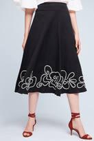 Hd In Paris Floral Hem Midi Skirt