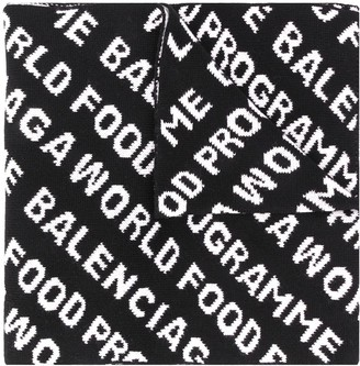 Balenciaga repeated logo scarf