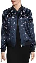 Opening Ceremony Women's Embellished Silk Varsity Jacket