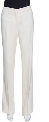 Etro Cream Flared Bottom New Veronica Tailored Trousers L
