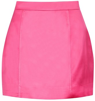 GAUGE81 Fuschia satin mini skirt