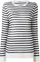 Alexander Wang striped T-shirt - women - Linen/Flax/Rayon - M