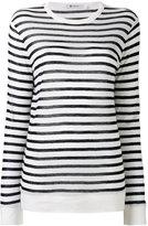 Alexander Wang striped T-shirt - women - Linen/Flax/Rayon - S