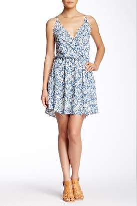Love Stitch Lovestitch Printed Surplice Sundress