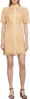 Sandro Live Lace Short Sleeve Shirtdress