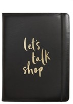 Kate Spade Let'S Talk Shop Notepad Folio - Black