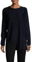 Tibi Wool Extended Crewneck Sweater