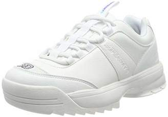 Superdry Women's Chunky Trainer Low-Top Sneakers, White (Optic 01c)