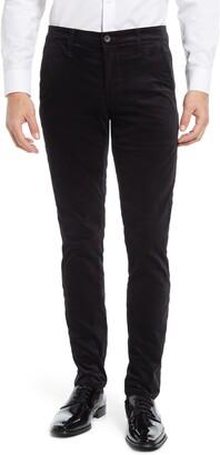 AG Jeans Jamison Tuxedo Stripe Velvet Trousers