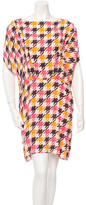 Marni Houndstooth Print Mini Dress