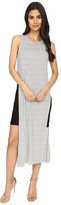 Culture Phit Eleanor Sleeveless Contrast Dress with Side Slit