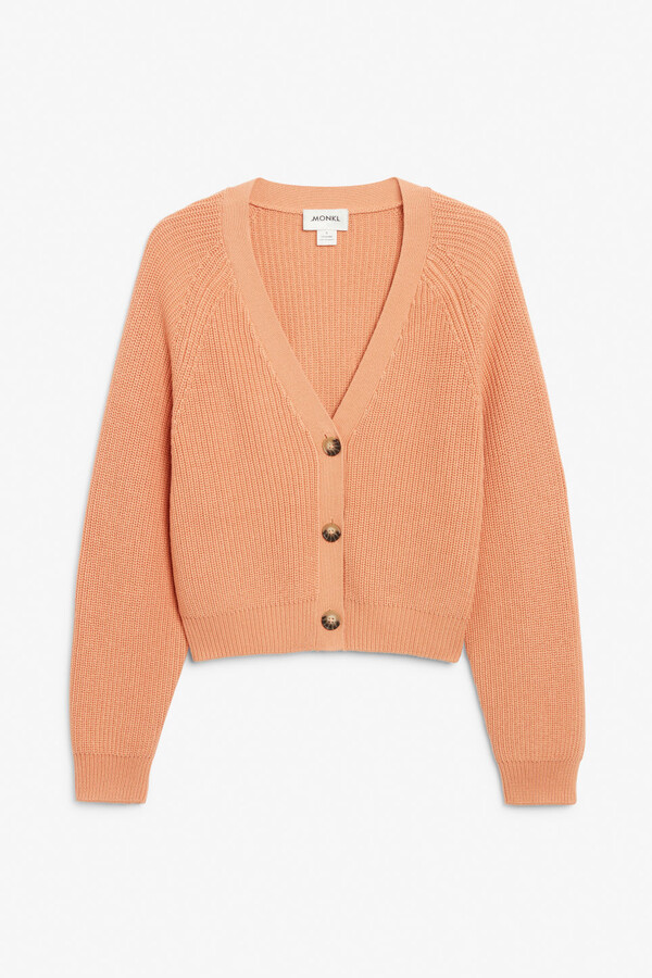 Thumbnail for your product : Monki Ribbed cardigan