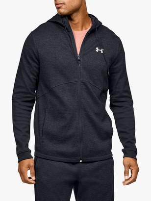 Under Armour Double Knit Full Zip Training Hoodie, Black