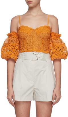 Jonathan Simkhai Leigh lace tiered cami top