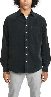 Schnaydermans Schnayderman's Solid Corduroy Unbutton Shirt
