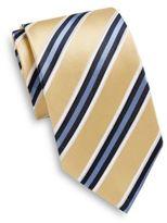 Saks Fifth Avenue Repp Stripe Silk Tie