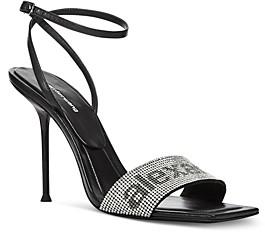 Alexander Wang Women's Julie Ankle Strap Embellished High Heel Sandals
