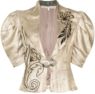 One Vintage Floral-Embroidered Jacket