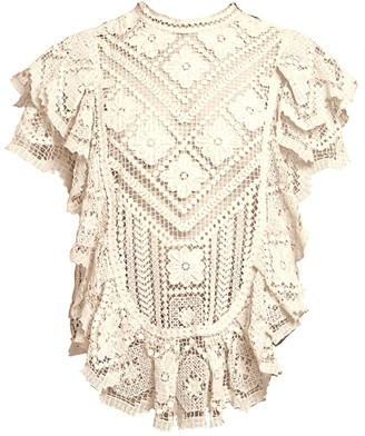 Isabel Marant Zanios Seaside Crochet Top