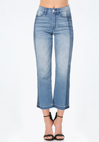 Bebe Reworked Crop Jeans