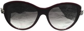 Cartier Burgundy Plastic Sunglasses
