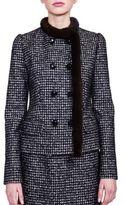 Dolce & Gabbana Mink-Trimmed Tweed Jacket
