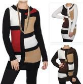 Journee Collection Junior's Color Block Scoop Neck Tunic Sweater