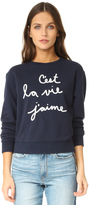 Rebecca Taylor Embroidered Sweatshirt