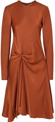 Chloé Draped Satin-crepe Midi Dress - Copper