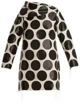 Marques Almeida MARQUES'ALMEIDA Circle-jacquard asymmetric-neck dress