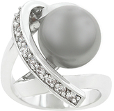 Kate Bissett Faux Pearl & Cubic Zirconia Knotted Ring