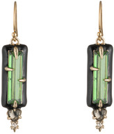 Alexis Bittar Enamel Framed Custom Gemstone Wire Earring