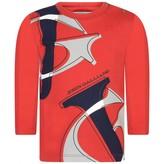 John Galliano John GallianoBaby Boys Red Long Sleeve Logo Top