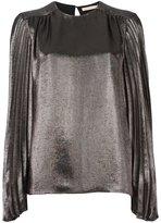Christopher Kane pleated sleeve blouse - women - Silk/Polyester/Acetate - 38