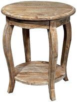 Alaterre Rustic Reclaimed Wood Round End Table