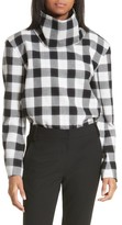 Tibi Women's Tess Plaid Top With Detachable Collar