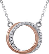 JCPenney FINE JEWELRY 1/10 CT. T.W. Diamond Two-Tone Circle Pendant Necklace