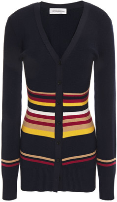 Victoria Beckham Intarsia-knit Cardigan