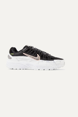 Nike P-6000 Se Leather And Mesh Sneakers - Black